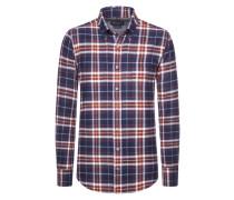 Bequemes Flanellhemd aus reiner Baumwolle von Tom Rusborg in Rot für Herren