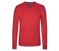 V-Neck Pullover, Cotton Cashmere von Tommy Hilfiger in Rot für Herren