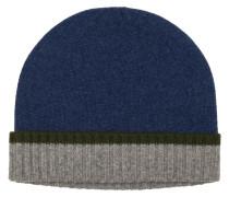 Warme Kaschmir-Strickmütze von Tom Rusborg Premium in Blau für Herren