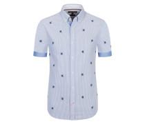 Kurzarmhemd, Slim Fit von Tommy Hilfiger in Blau für Herren