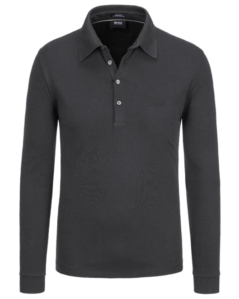hugo boss herren sweatshirt mit polokragen marine von. Black Bedroom Furniture Sets. Home Design Ideas