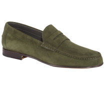 Loafer aus Velours-Leder  Gruen