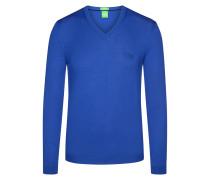 V-Pullover in 100% Schurwolle von Boss Green in Blau für Herren