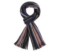 Mehrfarbiger Wollmix Schal von Tom Rusborg in Blau für Herren