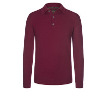 Pullover mit Polokragen aus 100% Kaschmir von Tom Rusborg Premium in Bordeaux für Herren