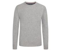 Bequemer O-Neck Pullover von Tom Rusborg in Grau für Herren