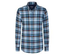 Aktuelles Flanellhemd aus 100% Baumwolle von Tom Rusborg in Blau für Herren