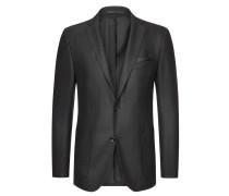 Sakko mit Ärmelpatches, strukturiert von Tom Rusborg Premium in Schwarz für Herren