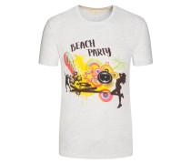 T-Shirt in melierter Optik von Tom Made In Heaven in Grau für Herren