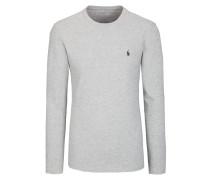 Langarm-Shirt in Grau für Herren