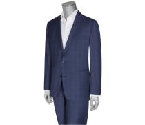 Comfort Fit Glencheck-Businessanzug von Eduard Dressler in Blau für Herren