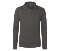 Estate-Rib Pullover mit Troyerkragen, Custom Fit von Polo Ralph Lauren in Anthrazit für Herren