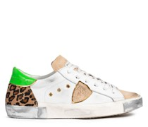 Sneaker FANCY POP BLANC LEO aus Leder