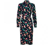 Blusenkleid TONG MIDI DRESS aus Krepp mit floralem Muster