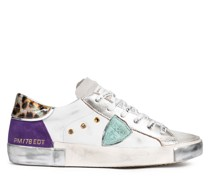 Sneaker FANCY POP BLANC VIOLET aus Leder
