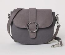 Kleine Handtasche mit Quaste - Grau