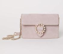Handtasche aus Veloursleder - Vintagerosa
