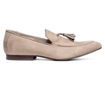 Loafer mit Quasten - Helles Taupe