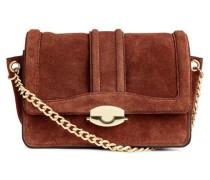 Handtasche aus Veloursleder - Dunkelbraun