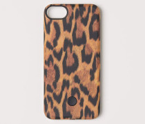 iPhone-Hülle - Black/Leopard print