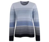 Pullover, Farbverlauf, Streifen, gerollter Saum, Blau