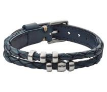 "Armband, ""Vintage Casual"", Leder, blau, JF02346040"