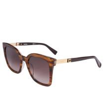 Sonnenbrille, Havana-Optik, Metall-Akzente