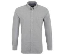Freizeithemd, Regular-Fit, Button-Down-Kragen, für Herren, Grau