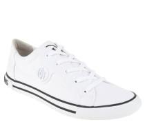 Sneaker, Logo-Emblem, Zierstreifen, Weiß