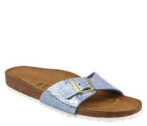 Pantoletten, Reptilleder-Optik, gesenktes Fußbett