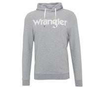 Sweatshirt, Kapuze, uni, Logo-Print, Baumwolle, Grau