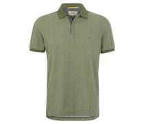 Poloshirt, Baumwolle, Muster, Oliv