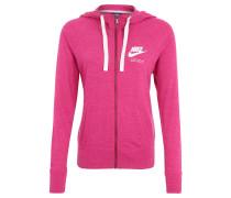 Trainingsjacke, Jersey, Kapuze, meliert, für Damen, Pink