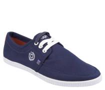 Sneaker, zweifarbige Schnürsenkel, Ripsbänder