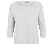 Pullover, Feinstrick, Viskosemix, Loose Fit, 3/4-Arm, Silber