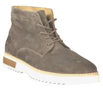 "Sneaker ""Jean"", Schnürung, Leder, Profilsohle, Grau"