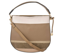 Handtasche, lebhafter Look, formschönes Design, Taupe