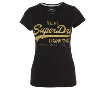 T-Shirt, glitzernder 3D-Logo-Print, Baumwolle