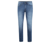 "Jeans ""Frank Stretch"", Used-Look, Knitterfalten"