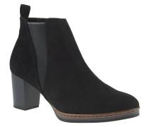 Ankle-Boots, Animal-Print, raffinierter Stretch-Einsatz, Schwarz