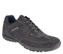 Sneaker, Leder, Materialmix, Grau
