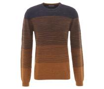Pullover, Farbverlauf, Baumwolle, Braun