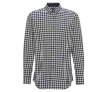 Freizeithemd, Modern Fit, Button-Down, Oliv