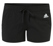 Shorts, Baumwollmix, drei Streifen, für Damen, Schwarz