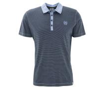 Poloshirt, gestreift, Knopfleiste, Baumwolle, Blau