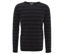 Pullover, Baumwolle, gestreift, Rollsaum