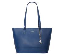"Shopper ""Sydney"", strukturierte Oberfläche, Anhänger, Leder, Blau"