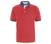 Poloshirt, Logo-Stickerei, einfarbig, Orange