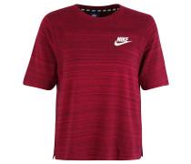T-Shirt, Logo-Print, Melange, für Damen, Rot