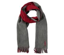 Schal, Wolle, zweifarbig, Fransen